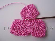 Crochet Flower Patterns, Crochet Stitches Patterns, Crochet Motif, Crochet Flowers, Stitch Patterns, Irish Crochet Tutorial, Ribbon Design, Irish Lace, Crochet For Kids