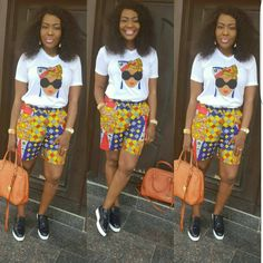 Ankara Shorts to Rock this September by our African Beauty Queens – WearitAfrica – African Fashion Dresses - 2019 Trends African Print Pants, African Print Dress Designs, African Print Dresses, African Print Fashion, African Design, African Fashion Dresses, African Dress, Ankara Fashion, African Outfits