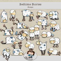 SoMa Design: Bedtime Stories - Sheeps Bedtime Stories, Digital Scrapbooking, Comics, Kit, Design, Cartoons, Comic, Comics And Cartoons