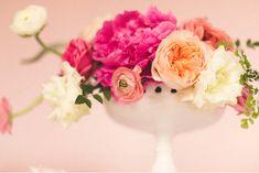 Valentine's Day Party Ideas That Celebrate Great Design  -- Vintage Valentine's Day floral arrangement
