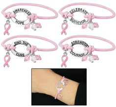 Pink Ribbon Wisdom Bracelet - Every Purchase Funds Mammograms for Women in Need.