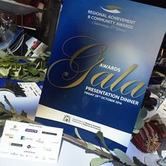 Gala Presentation Dinner programs and place cards.