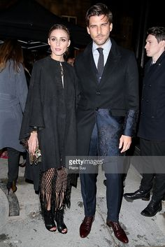 Olivia Palermo and Johannes Huebl arrive at the Valentino Haute Couture Spring Summer 2016 show as part of Paris Fashion Week on January 27, 2016 in Paris, France.