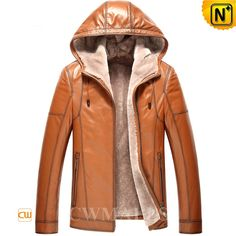 CWMALLS Mens Hooded Shearling Leather Jacket CW857167 Stylish winter men's hooded shearling jacket featuring with full zipper closure and comfort fur shearling hood. Plush and thick fur shearling lining lends warmth to this supple leather hooded jacket. www.cwmalls.com PayPal Available (Price: $1357.89) Email:sales@cwmalls.com