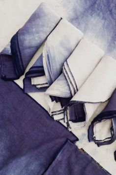 dip dye linen towel & napkin set / jill aiko yee.