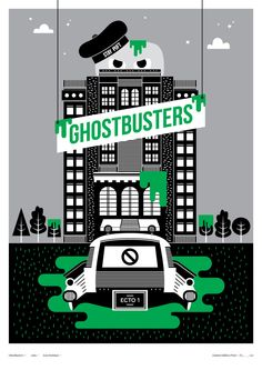 Ghostbusters from the Little Print Shop Of Horrors series by Creative Spark in aid of Marie Curie