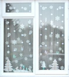 Something to do with the paper snowflakes AND the paper trees after we make them! I was already planning on putting up the snowflakes; I like the trees there, too!