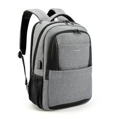 Amzbag Laptop backpack Inch Computer Case Travel Rucksack Business Bag With USB Charging Port Water-resistant College Backpack Bookbag For Laptop / Ultra-book / Tablet / Men / Women (Grey) Computer Backpack, Computer Bags, Nylons, Business Laptop, Business Travel, Laptops For Sale, Bags For Teens, Backpack Online, Backpack Bags