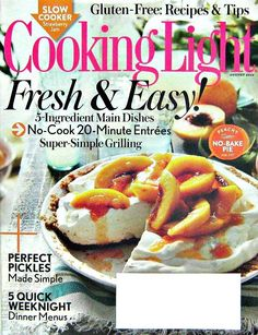 Cooking Light Magazine, Fresh and Easy Recipes, August 2014 Vol.28 No.7