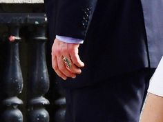 Hugh Grant married Swedish television producer, Anna Eberstein, in London. See his wild wedding ring. Hugh Grant, Wedding Bands, Wedding Ring, Anna, Engagement, Rings, Ice, London, Baby