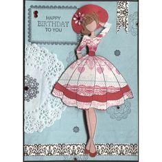 Prima Julie Nutting Doll Stamp - Audrey