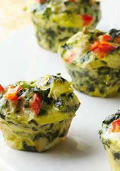 Mini Spinach-Artichoke Frittatas — A favorite pairing—spinach and artichokes—gets whipped together into tasty bite-size frittatas. Make them ahead and reheat just before your guests arrive.