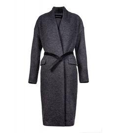 Пальто-халат с ремнем из эко-кожи LA REINE BLANCHE 135232000 купить в…