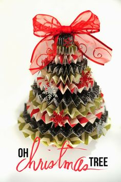 Make a Rosette Christmas Tree without a Die Cut machine and/or dies.