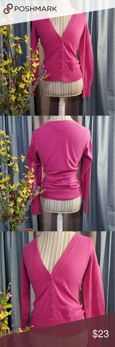 🌻🌺🌻BANANA REPUBLIC CARDIGAN!! SIZE:XS but will fit small   BRAND:Banana Republic    CONDITION:like new, no flaws (streaks are from lighting)   COLOR:pink (best seen in first and last photo)    🌟POSH AMBASSADOR, BUY WITH CONFIDENCE!   🌟CHECK OUT MY OTHER ITEMS TO BUNDLE AND SAVE ON SHIPPING!   🌟OFFERS WELCOME!   🌟FAST SHIPPING! Banana Republic Sweaters