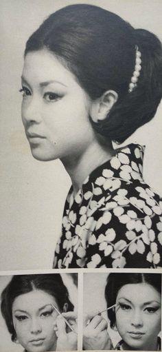 若尾文子 / Ayako Wakao MAX FACTORギル・カニエによるメイクアップ。1960年代・婦人画報より。