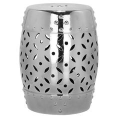 Toulouse Garden Stool in Silver