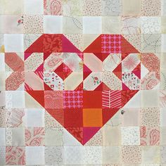 Discover unique and colorful designs for living on artist Robin Pickens' site. Robin is a textile and surface designer who licenses her artwork to a variety of fabric, home decor, giftware and stationery companies. All work is copyright Robin Pickens Quilting Projects, Quilting Designs, Sewing Projects, Quilting Tips, Machine Quilting, Heart Quilt Pattern, Quilt Patterns Free, Block Patterns, Nancy Zieman