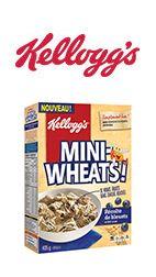 Coupon 1$ sur les Céréales Kellogg's Mini-Wheats Récolte de Bleuets bleuets