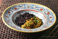Forbidden Rice and Indian Spiced Lentils