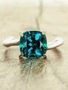 Ken  Dana Design ♥♥♥♥♥ Pair with a smaller teal sapphire  silver leaves = Perfection ♥♥♥♥♥