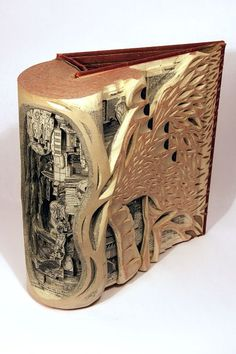 . Brian Dettmer. <3 Book Carving Altered Art