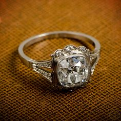 Vintage Engagement Ring 1.53ct Old Mine door EstateDiamondJewelry