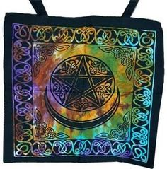 "18"" X 18"" Triple Moon Tote Bag"