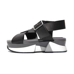 #stolendesign Chunky Sole Cross Strapped Sandals | STYLENANDA