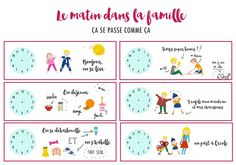 {Freebies} 10 printables pour s'or-ga-ni-ser! Routine Printable, Free Printable, Time Timer, Family Organizer, Night Routine, Evening Routine, Toddler Fun, Learn French, Diy Organization