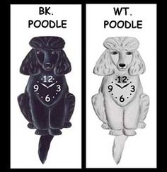 Poodle Body Wall Clock