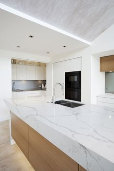 Complete Home Fit-outs Cabinet Makers New Kitchen Designs, Kitchen Images, Kitchen Photos, High End Kitchens, Engineered Stone, Calacatta, Cabinet Makers, Kitchen Styling, Newport