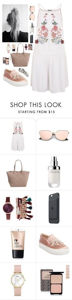 """""""Summmmmmeeeerrrr"""" by youngsmile on Polyvore featuring Topshop, Sole Society, Marc Jacobs, Jessica Carlyle, Apple, Charlotte Russe, Steve Madden, CLUSE and MANGO"""