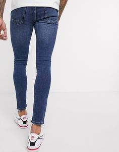 Super Skinny Jeans, Blue Fashion, Blue Jeans, Asos, Bear, Shopping, Style, Clothing, Swag