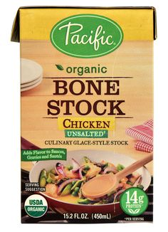 Pacific Natural Foods Organic Bone Stock Unsalted Chicken
