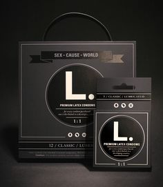 """""""L. is a condom company with a cause: to empower women globally by supporting the human right to safe sex. #packaging a cause PD"""