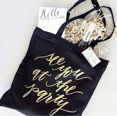 Events by Gia loves this Wedding Tote - it could be used for the Guests or the Bridal Party!  #atlanta #eventstyling #eventsbygia #weddingplanning #eventcompany #corporateevent #sherwoodeventhall #atlantavenues #partyideas #weddingparty #wedding #weddingfavors