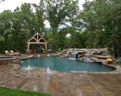 Pool deck - Award Winning Swimming Pools by Top Pool Contractors This is really pretty. Amazing Swimming Pools, Luxury Swimming Pools, Natural Swimming Pools, Dream Pools, Cool Pools, Natural Pools, Luxury Pools, Awesome Pools, Backyard Pool Landscaping