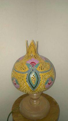 Gourd lamps made by Nedim YALÇINKAYA