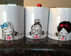 22 ideas gifts for friends diy sharpie mugs Best Friend Gifts, Gifts For Friends, Best Gifts, Three Best Friends, Funny Friends, 3 Friends, Diy Becher, Bff, Besties