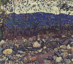 Ferdinand Hodler - Forest Brook at Leissingen, 1904, oil on canvas