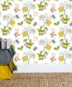 Rachel Reynolds, Luxury Wallpaper, Flora And Fauna, Fabric Painting, Lampshades, Home Accessories, Giclee Print, How To Draw Hands, Fabrics