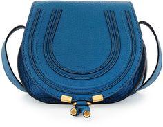 Chloe Marcie Small Crossbody Bag, Cobalt