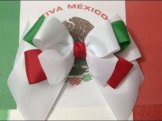 Esta semana realizaremos lazos mexicanos sencillos para estas fiestas patrias en este video te muestro el primero, ocuparemos cinta gros de 7 cm en blanco 62...