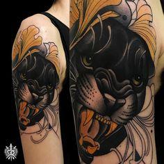 Tattoo artist Giulia Bongiovanni authors color neo traditional tattoo | Roma, Italy