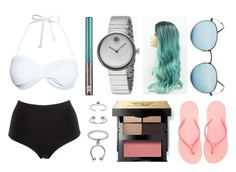 """""""Swimming on French exchange"""" by hailey-smith-13 ❤ liked on Polyvore featuring La Perla, Urban Decay, Movado, Ray-Ban, Maria Francesca Pepe, Bobbi Brown Cosmetics and Havaianas"""