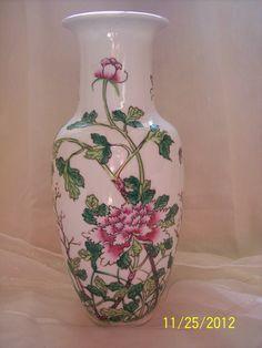 Antique Japanese Porcelain Vase Pink Floral by ProPicksoftheOzarks, $49.99