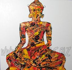 Buddha by Songpon Tubtimtong  Price: $350  Description: 120x120cm painting on white canvas