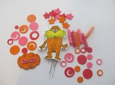 The Lorax Inspired Complete Set of Fondant Cake by 1STOPPARTY