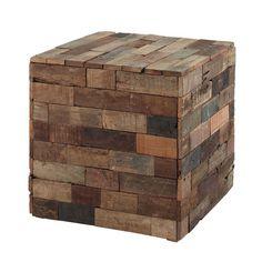 Beistelltisch in Würfelform PRAJA aus Holz, B 41cm, bunt